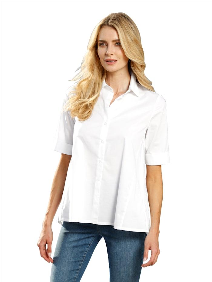 Alba Moda Blouse in uitlopend model, Wit