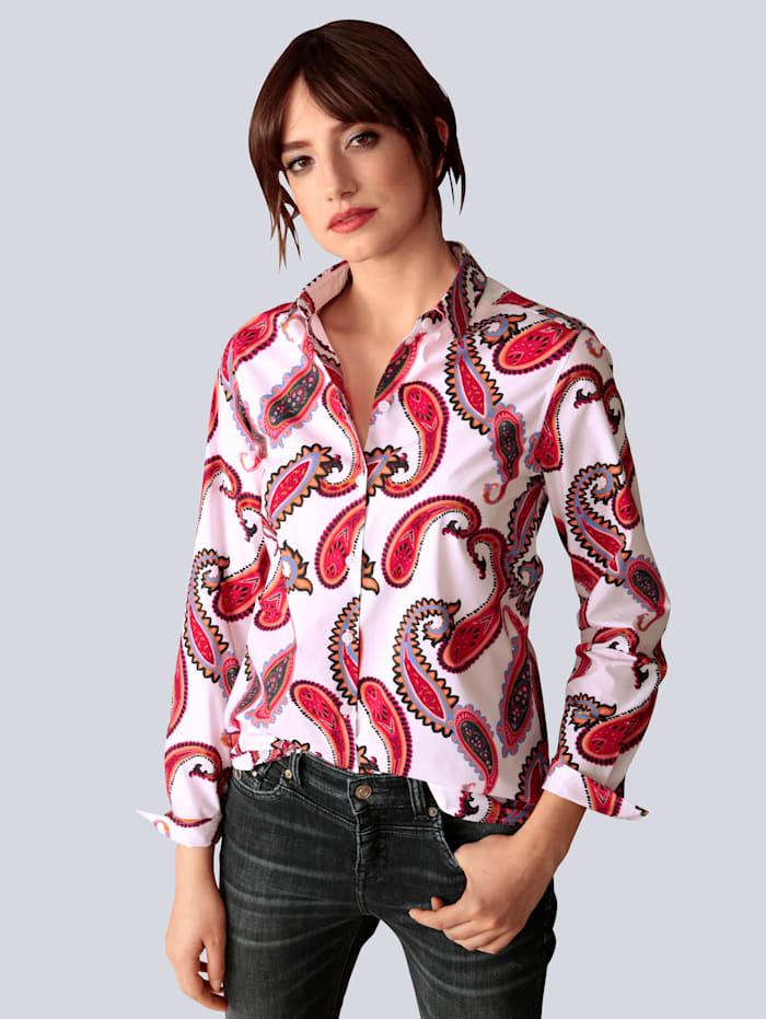 Seidensticker Schwarze Rose Bluse in Hemdblusenform, Weiß