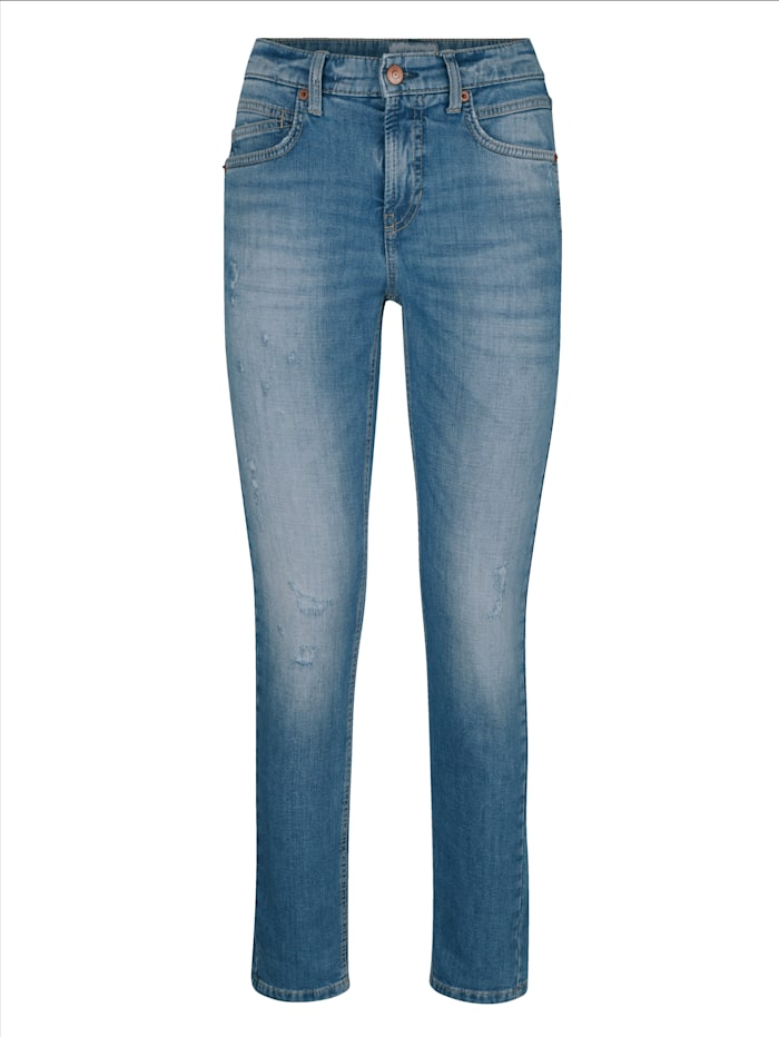 Jeans mit destroyed Effekten