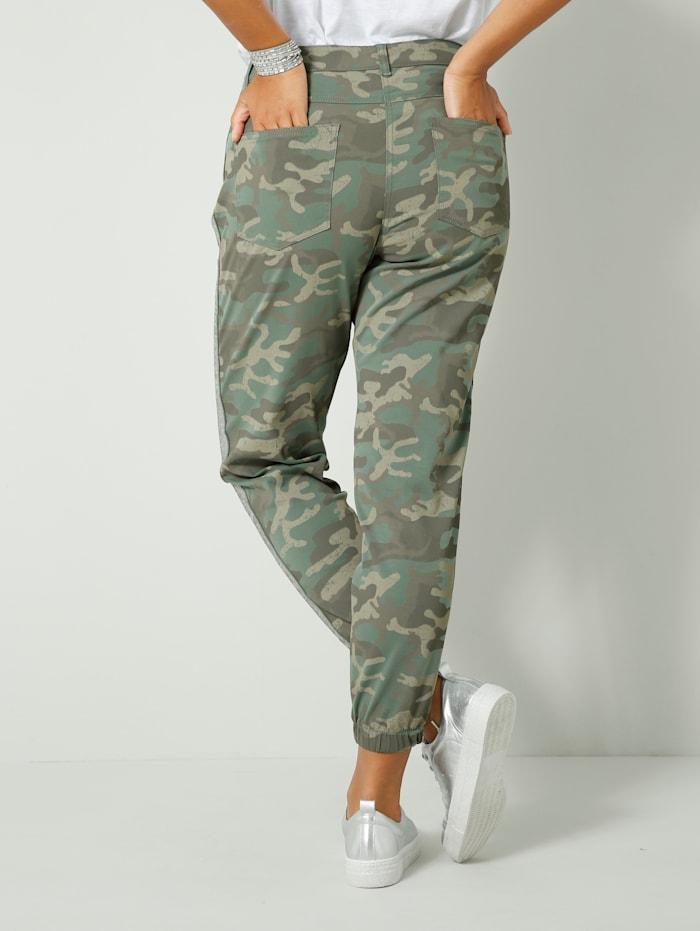 Pantalon à bande pailletée sur le côté