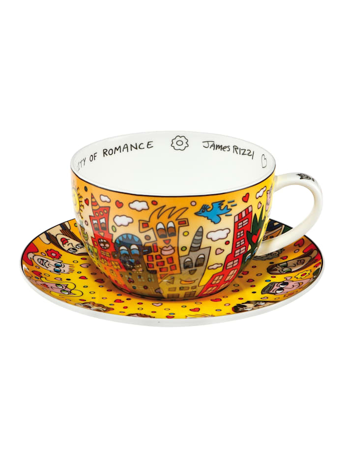 "Goebel Goebel Tee-/ Cappuccinotasse James Rizzi - ""City of Romance"", Rizzi - City of Romance"