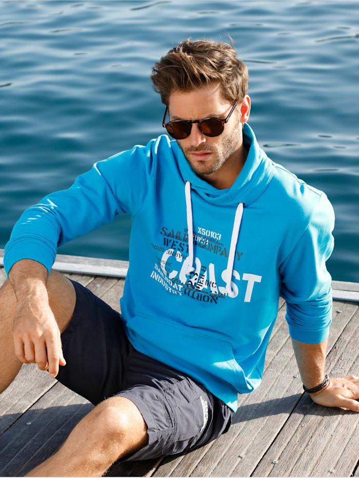 BABISTA Sweatshirt met kraag met overslag, Turquoise