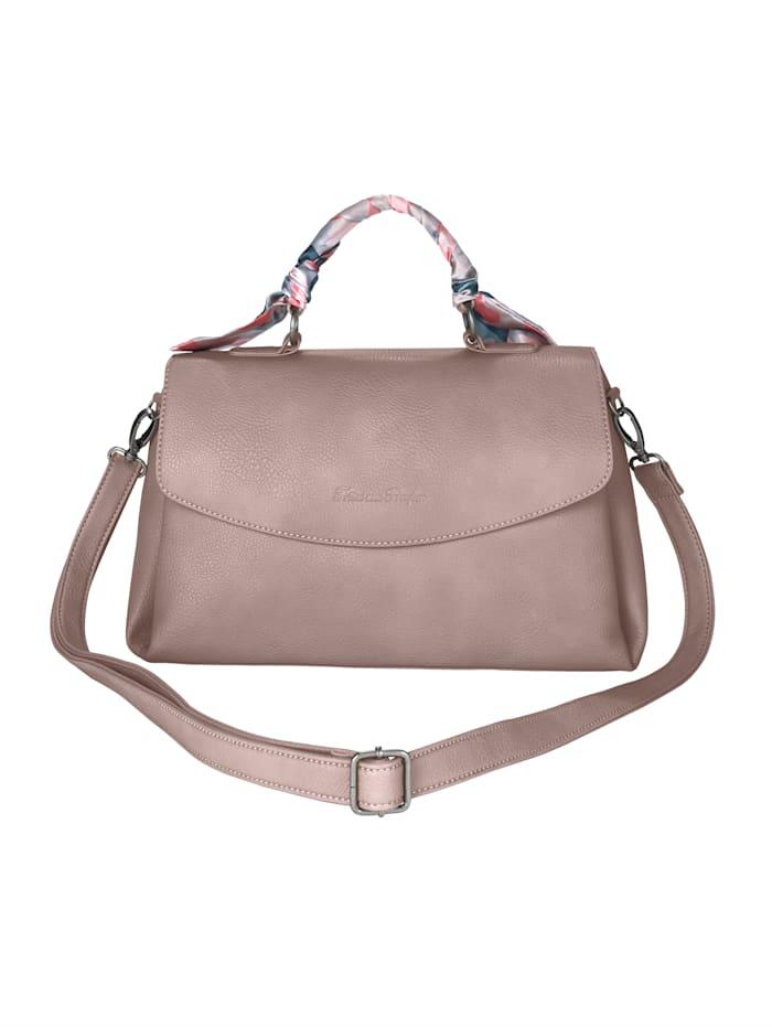 Fritzi aus Preußen Handtasche mit eingearbeitetem Tuch als Design-Element, rosé