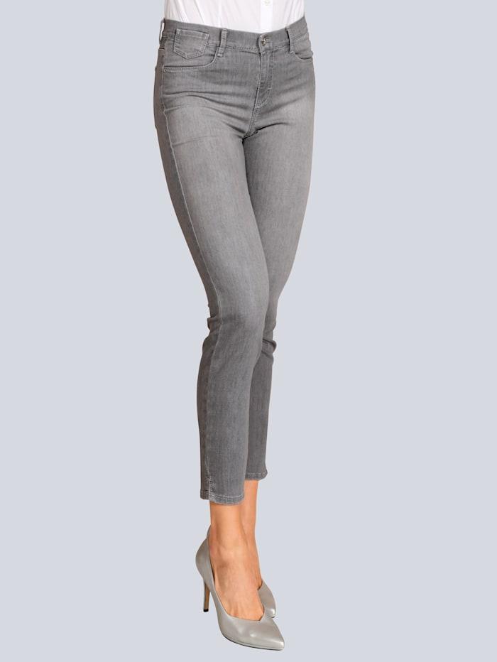 BRAX Jeans mit kleinen Schlitzen am Hosensaum, Grau