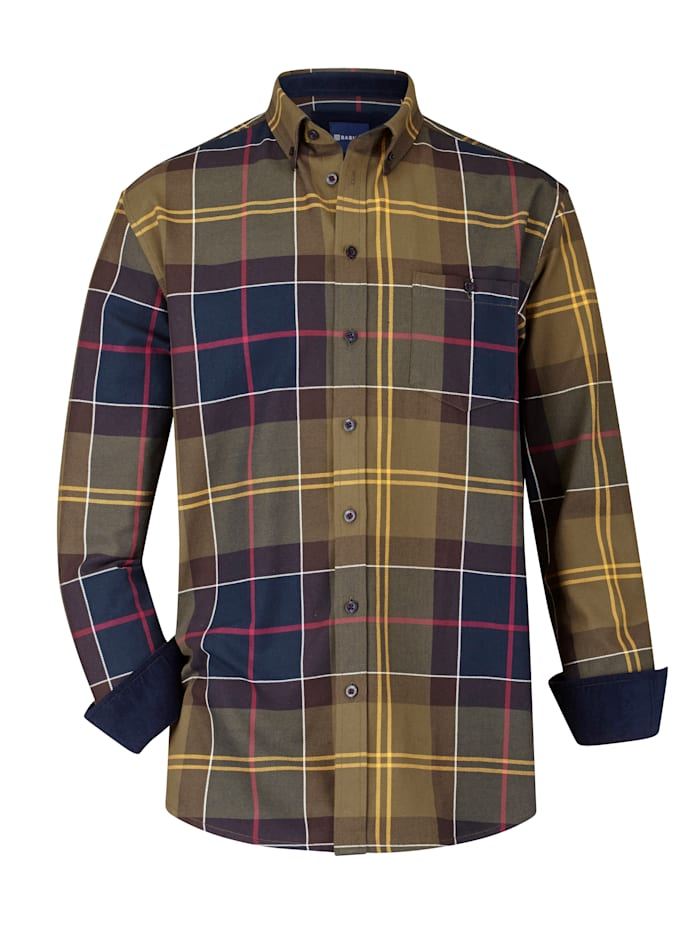 BABISTA Overhemd van zacht twillmateriaal, Olijf/Marine
