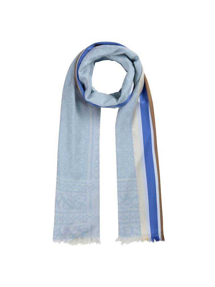 Codello Logo-Schal mit gewebten Streifen, jeans blue