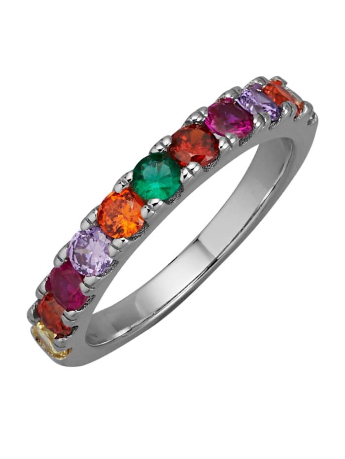Ring i silver 925, Flerfärgad