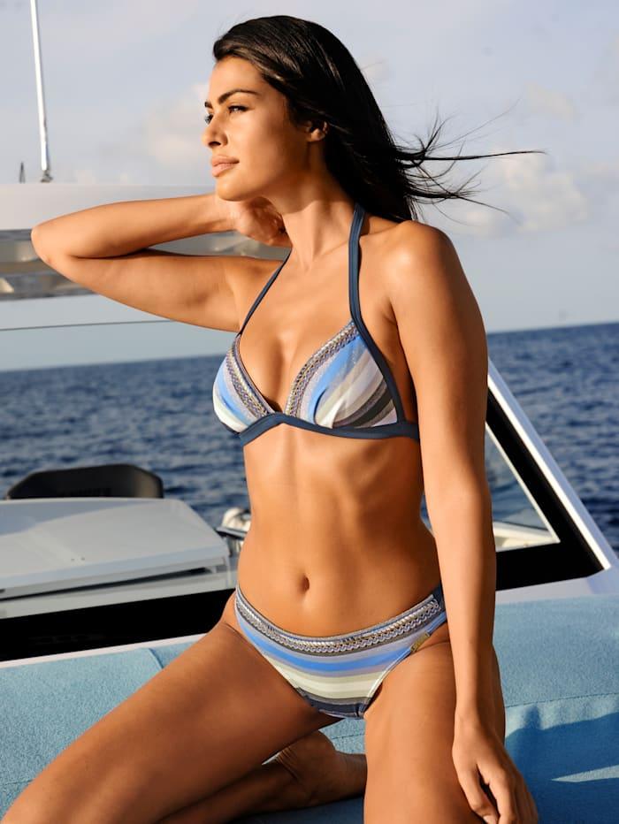 Opera Bikini mit Glitzereffekten, Blau