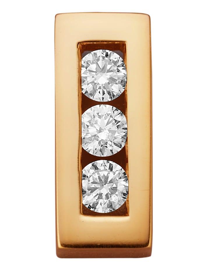 Diemer Diamant Hanger met briljanten, Geelgoudkleur
