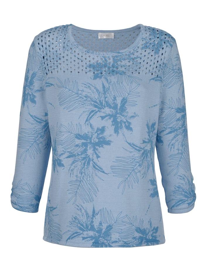Pullover mit dekorativer Ärmelraffung