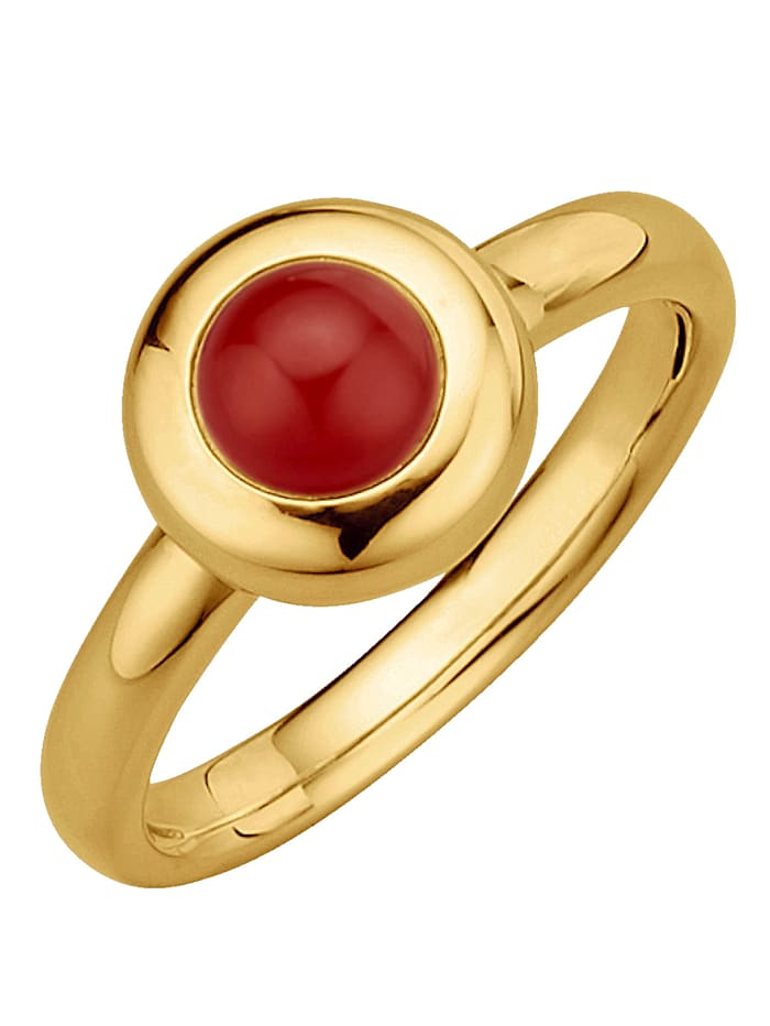 Diemer Highlights Sternzeichen-Ring Widder, Rot
