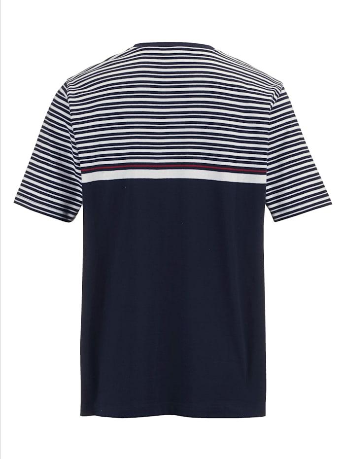 T-Shirt mit Koordinaten-Print