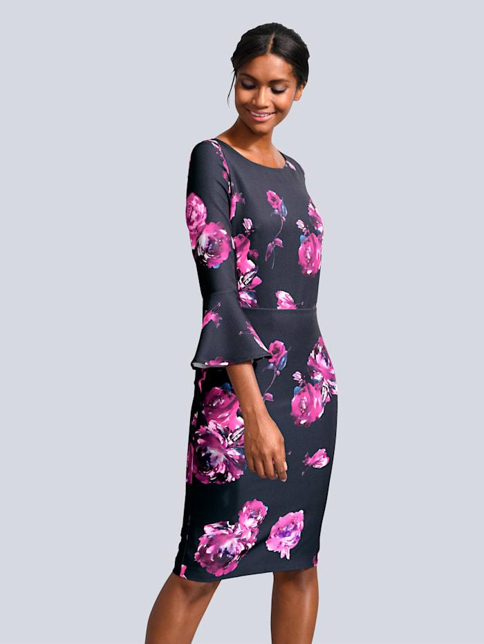 Alba Moda Kleid mit Alba Moda exklusivem Print, Schwarz/Pink