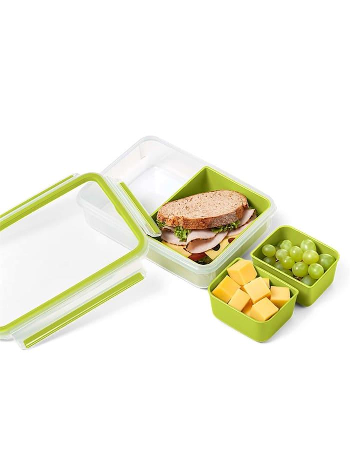 Snackbox mit 3 Einsätzen Clip   Go