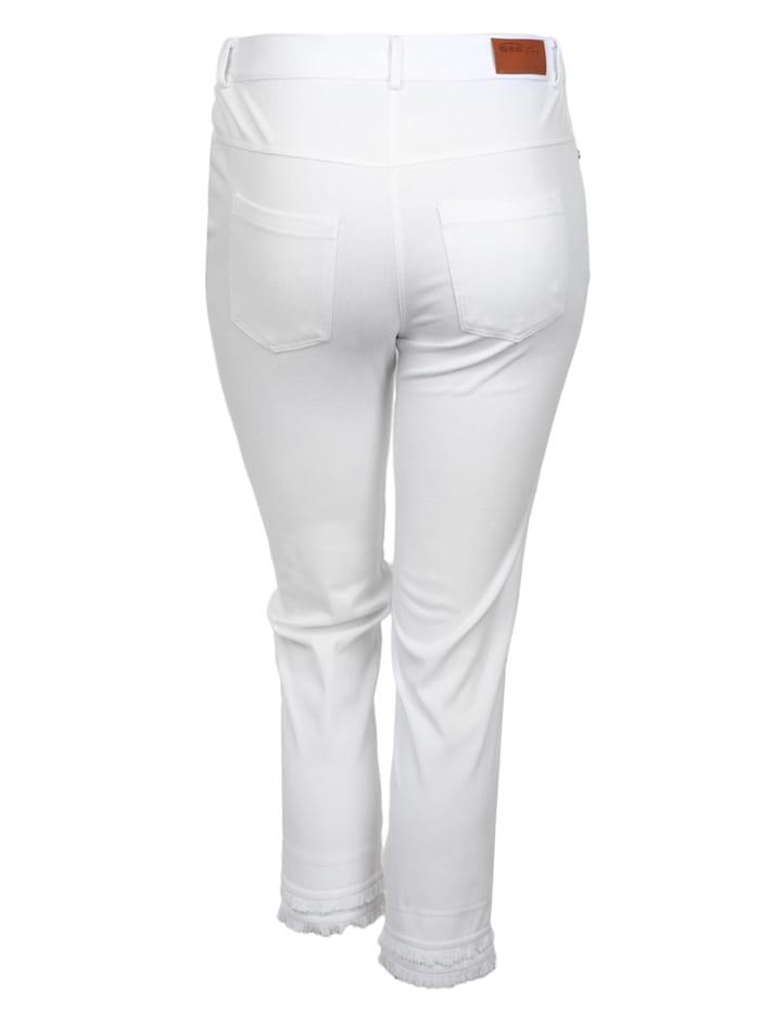 7/8-Jeans aus Knit Denim