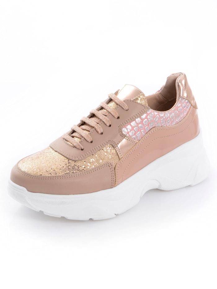 Alba Moda Sneaker im Optikenmix, Nude/Rosé
