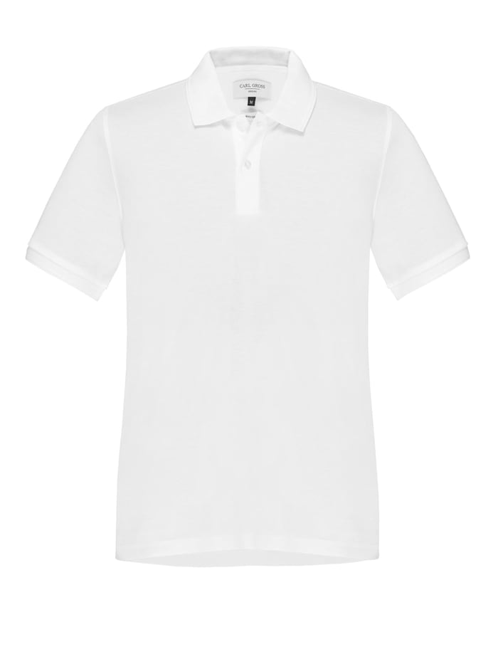 Carl Gross Polohemd aus Baumwolle, Weiss