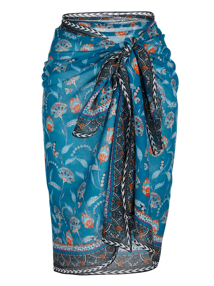 Olympia Pareo mit Bordüre, Blau