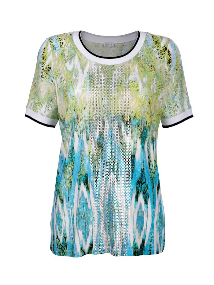 Shirt mit effektvollem Druck in Aquarell- Optik