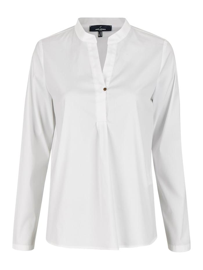 Daniel Hechter Moderne Bluse mit kleinem Stehkragen, white