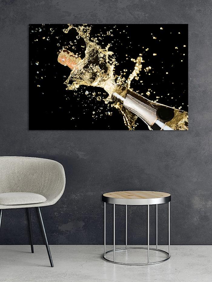 Acrylbild, Champagner
