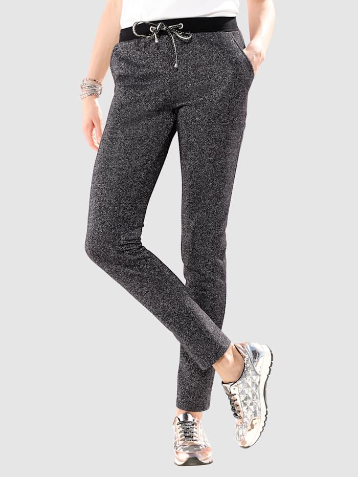 Pantalon coupe jogging à finition lurex