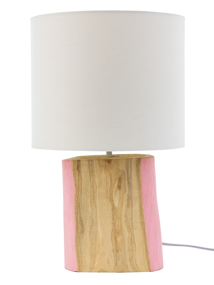 IMPRESSIONEN living Lampe de table, Naturel/rose