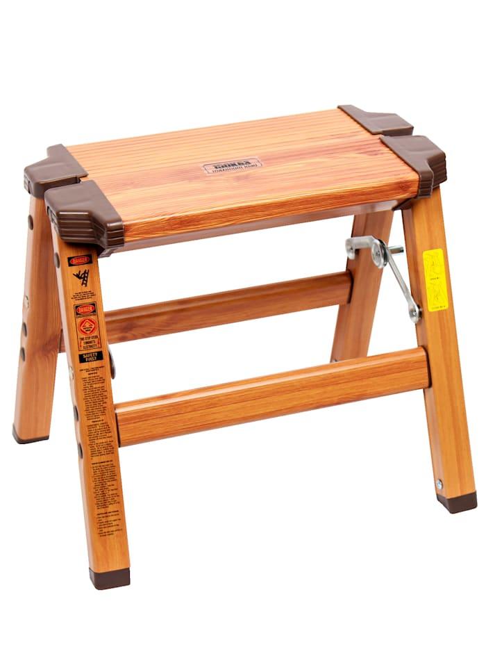 Sklápacia stolička 2v 1, Hnedá