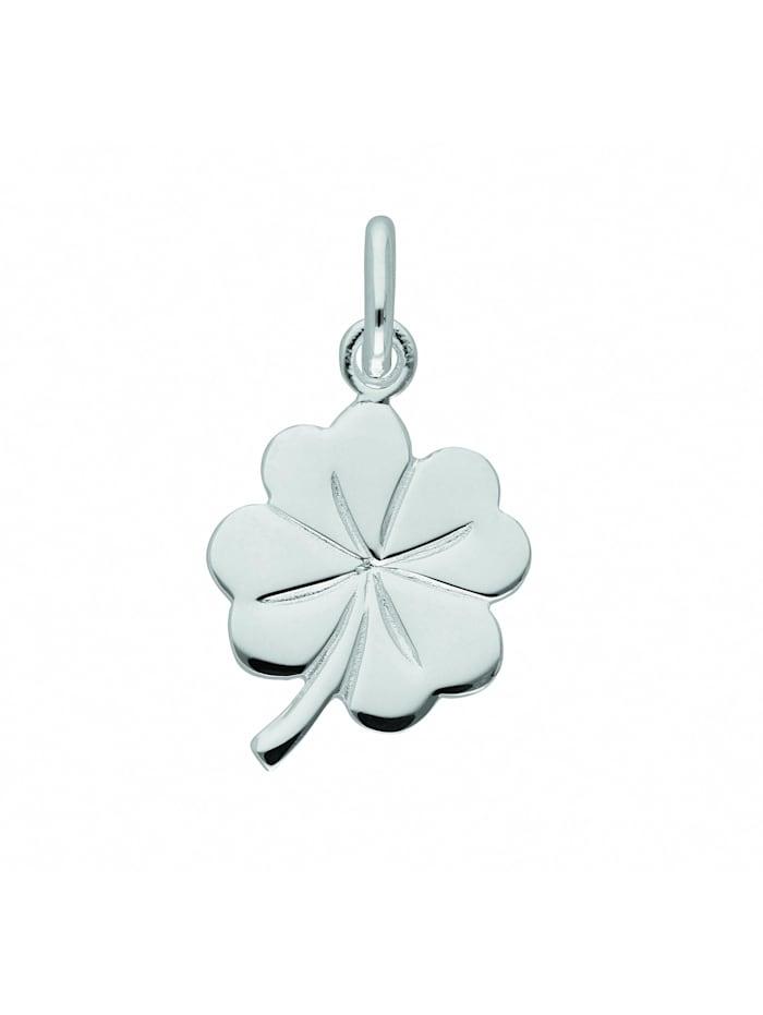 1001 Diamonds Damen Silberschmuck 925 Silber Anhänger Kleeblatt, silber