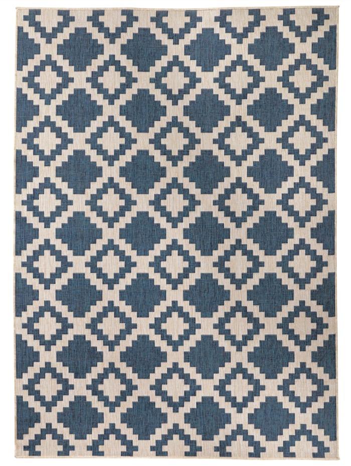 Webschatz Vändbar matta för utomhusbruk – Aurelian, Blå
