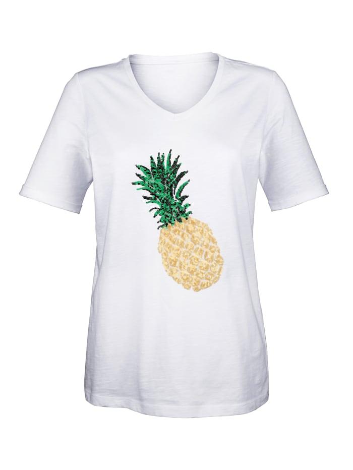 Shirt met ananas van pailletten voor