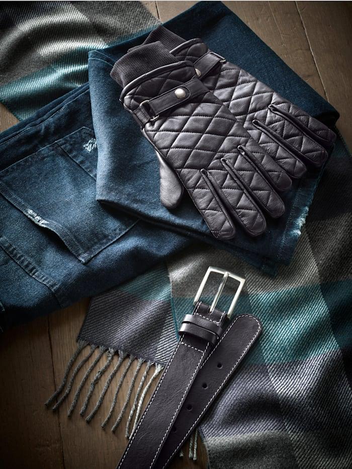Kožené rukavice s fleecovou podšívkou