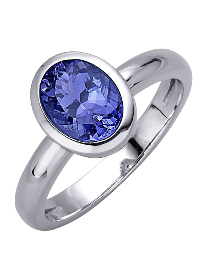 Diemer Farbstein Damenring mit Tansanit, Blau