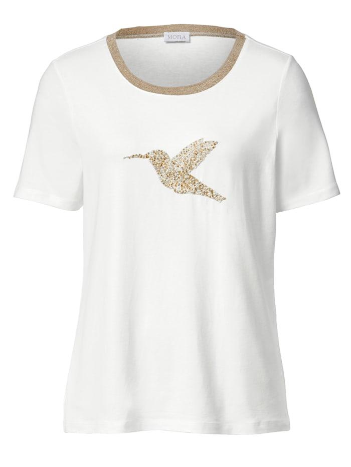 Shirt mit Vogelstickerei