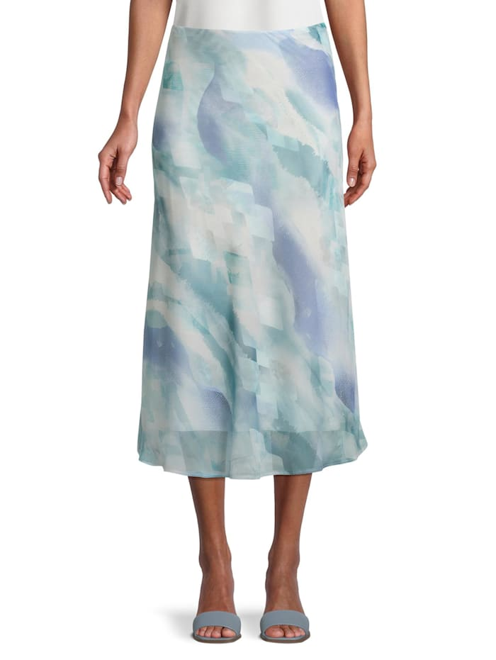 Betty Barclay Midirock mit Muster, Blau