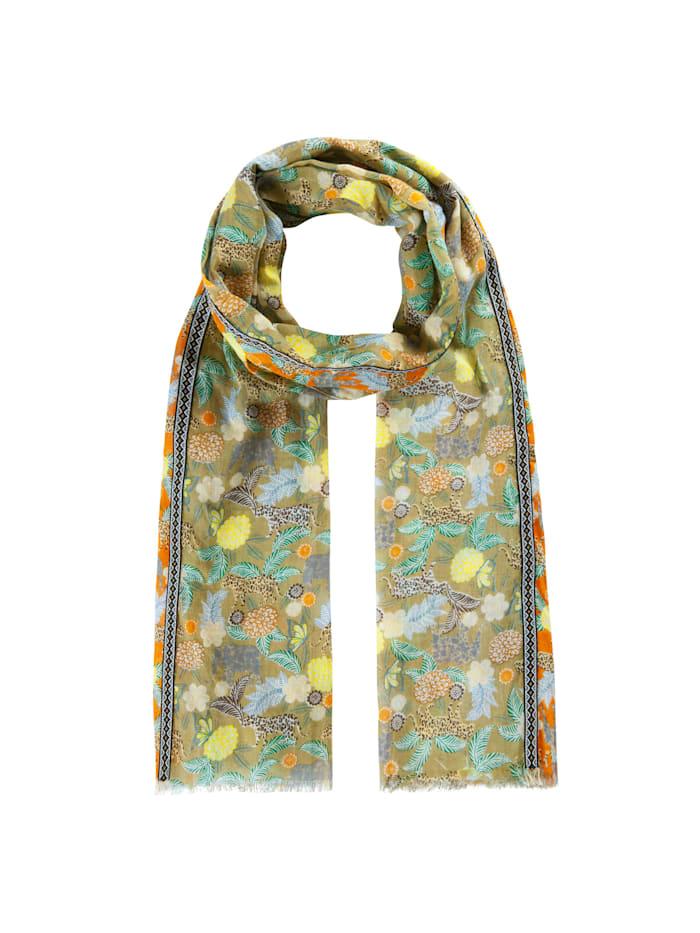 Codello Softer Safari-Schal aus feinster Baumwolle, taupe