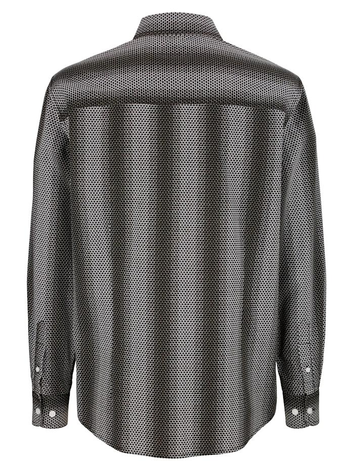 Skjorte med mønster rundt hele