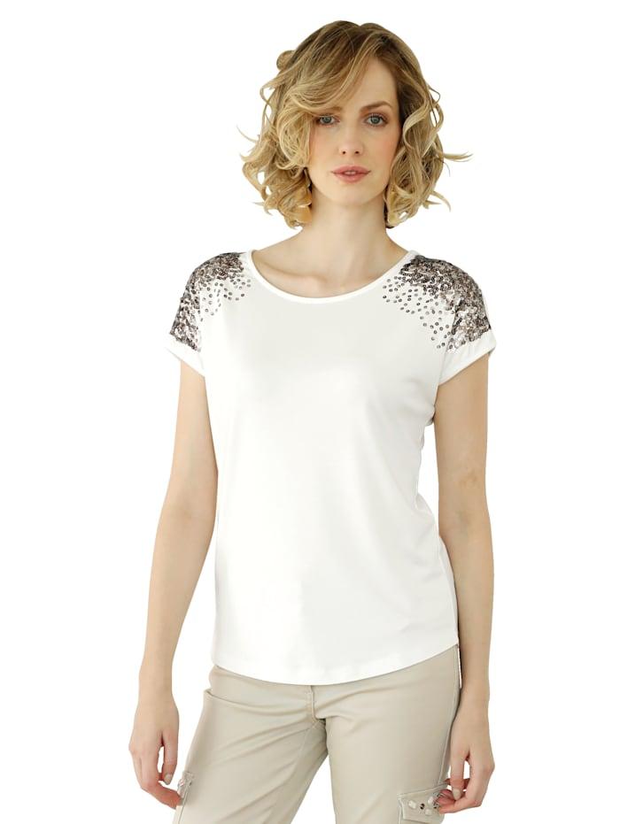 Shirt mit paillettenbesetzten Schultern