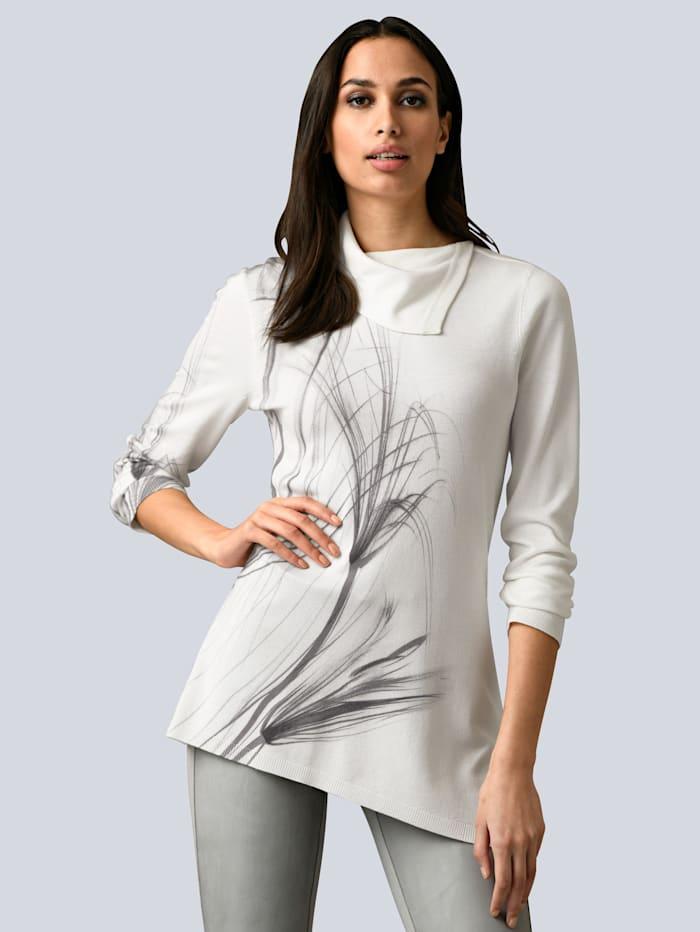 Alba Moda Pullover in Alba Moda exklusivem Dessin, Off-white/Grau