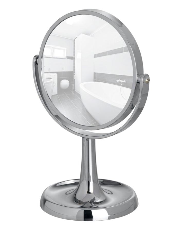 Wenko Kosmetikspiegel Rosolina Chrom, Standspiegel, 5-fach Vergrößerung, Chrom