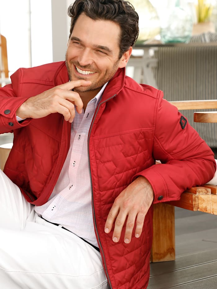 BABISTA Gewatteerde jas met bijzonder stikselpatroon, Rood