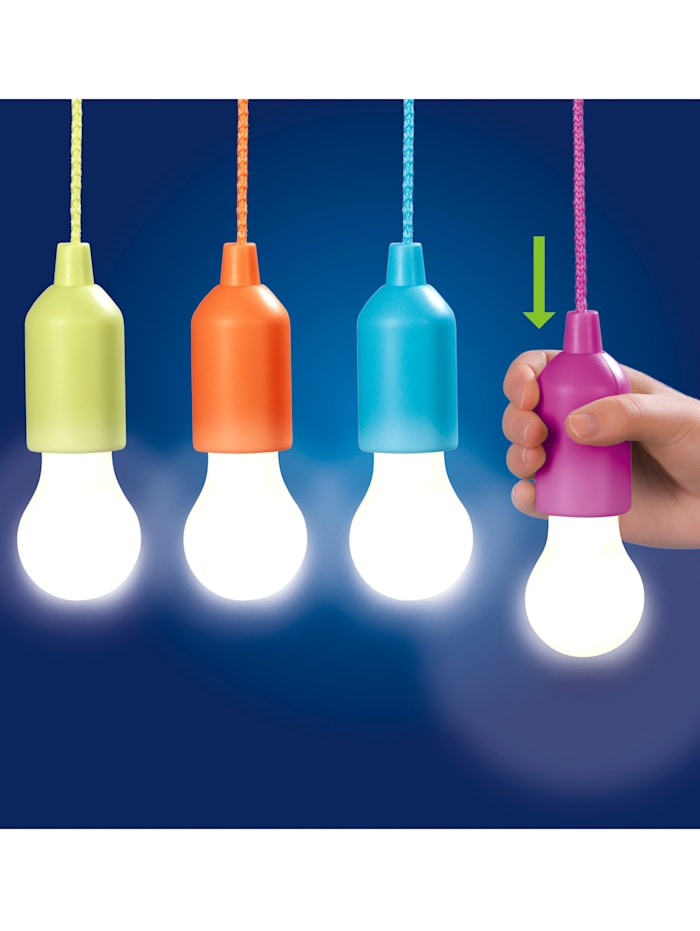 LED-Ziehleuchten-Set, 4tlg., mehrfarbig