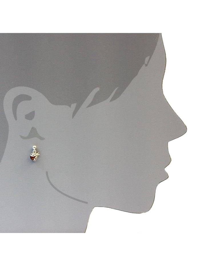 Ohrhänger - Marienkäfer - Silber 925/000 - Bernstein