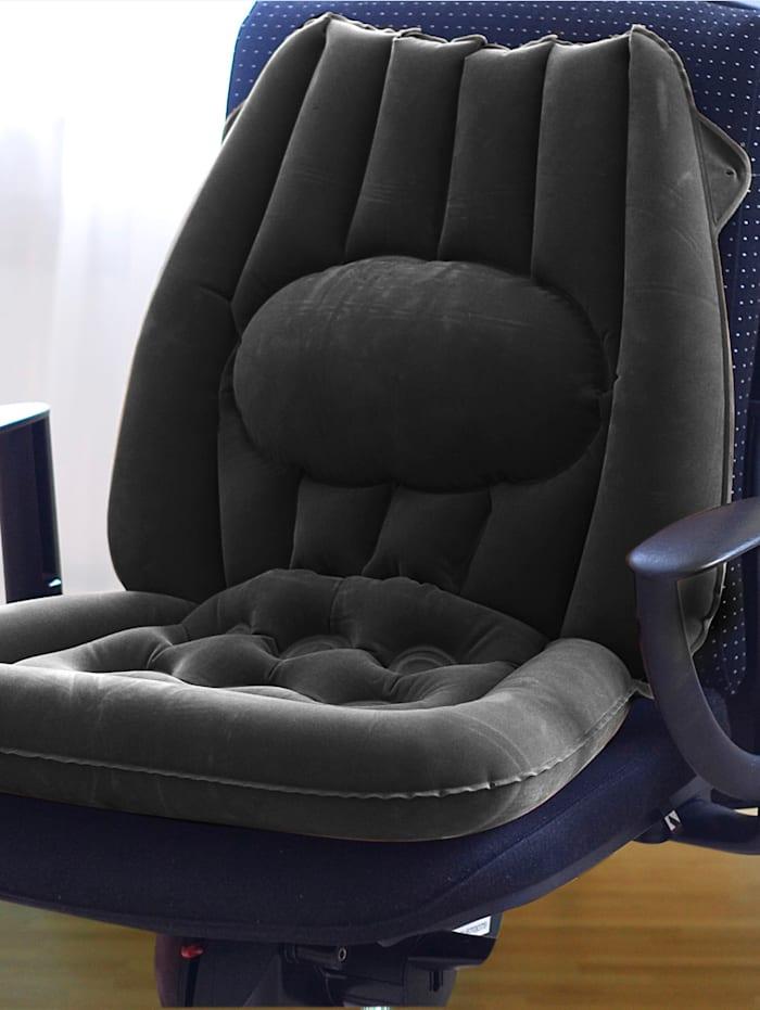 Sitzkissen - aufblasbar, anthrazit