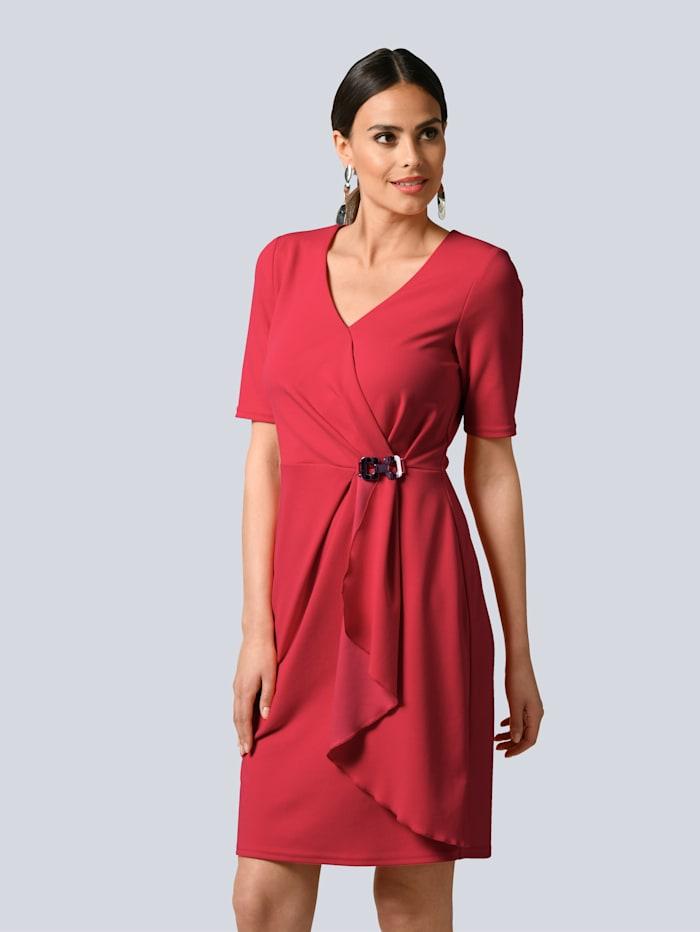 Alba Moda Kleid mit edlem Schmuckelement, Rot