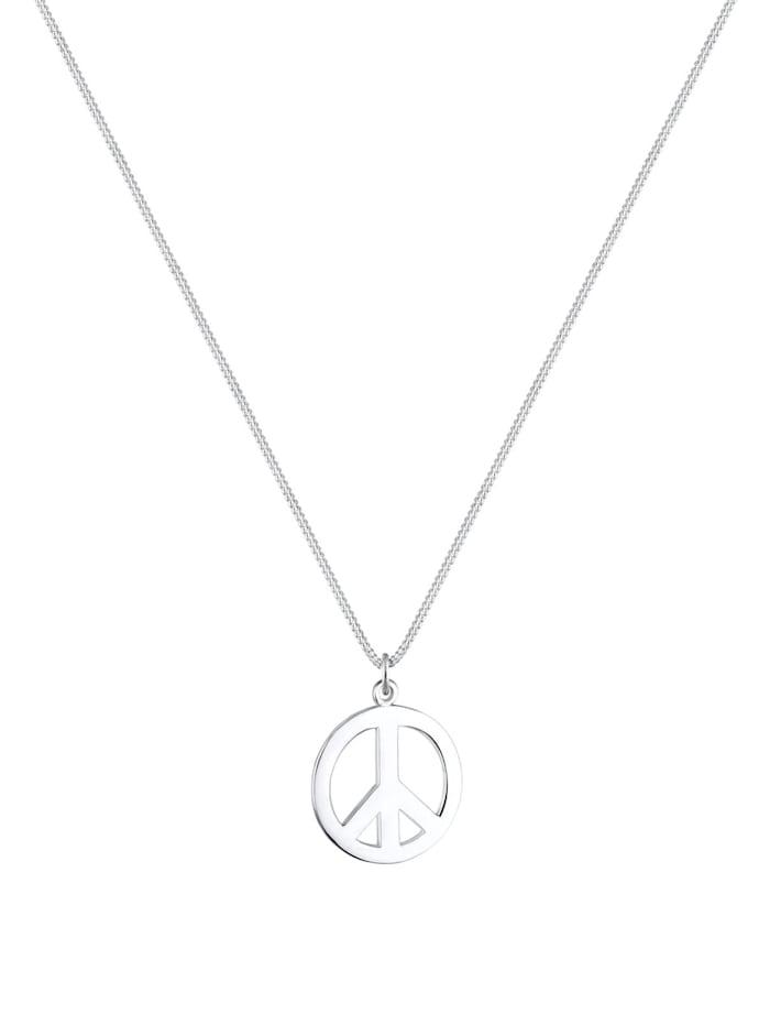 Halskette Boho Peace Zeichen 925 Sterling Silber
