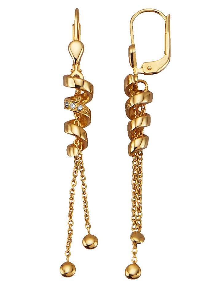 Diemer Diamant Boucles d'oreilles en or jaune 585, Coloris or jaune