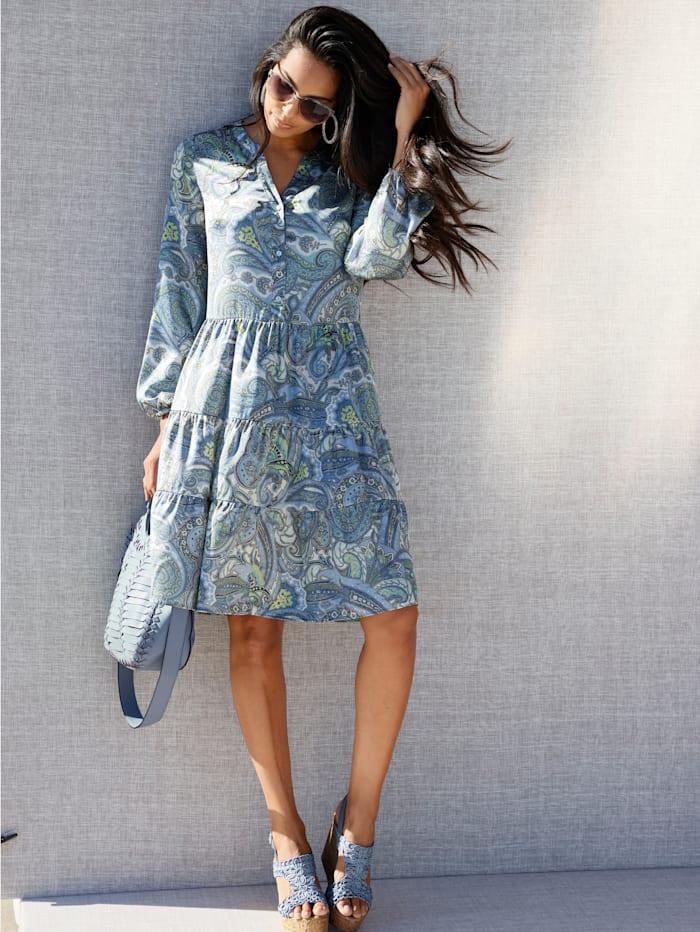 AMY VERMONT Kleid mit Paisley-Druck, Hellblau