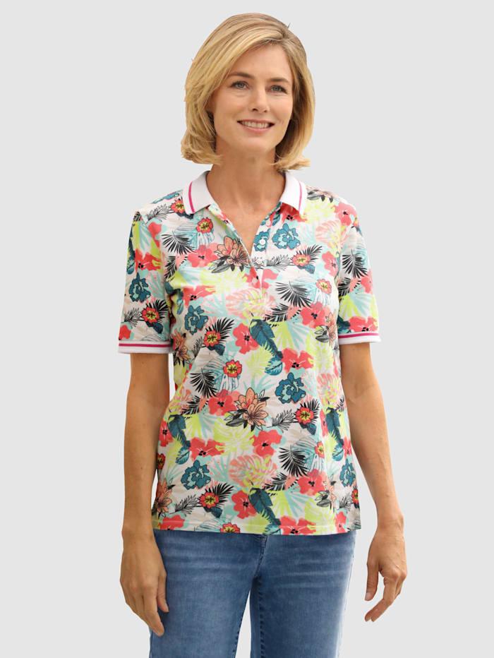Dress In Shirt met bloemenprint, Wit