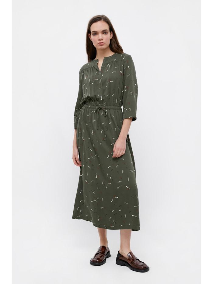Finn Flare Maxi-Kleid mit floralem Muster, dark green